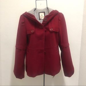 Anthropologie elevenses red wool coat